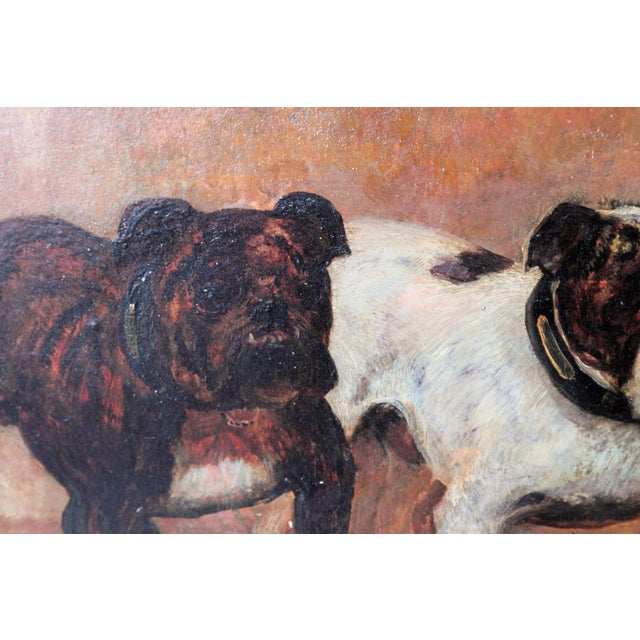 Small Oil Painting on Board of Dogs For Sale - Image 11 of 13
