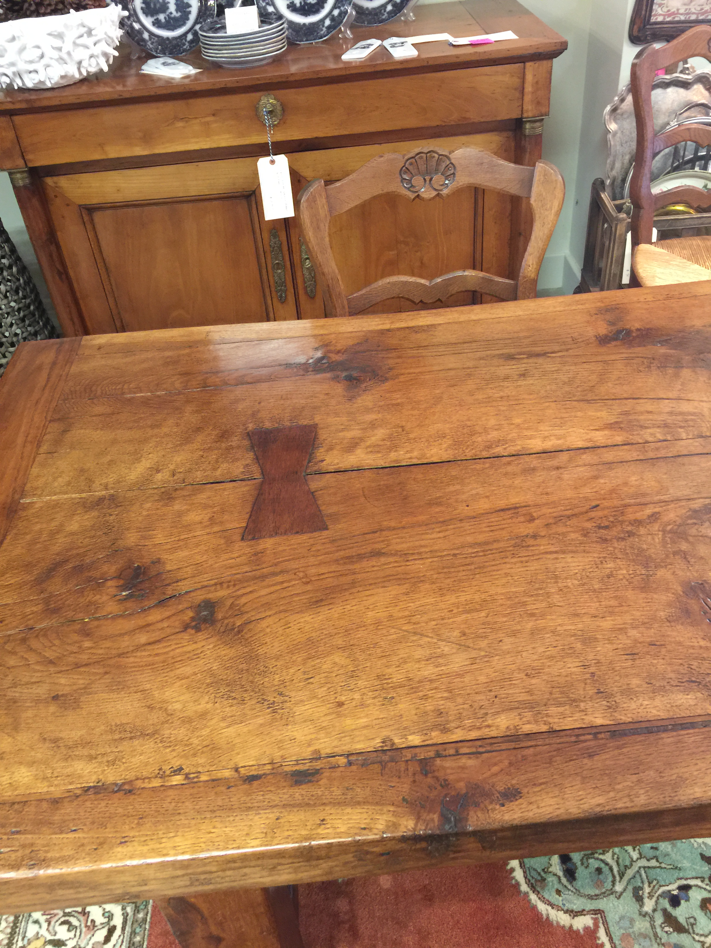 Antique Country French Chestnut Monastery Table   Image 4 Of 8