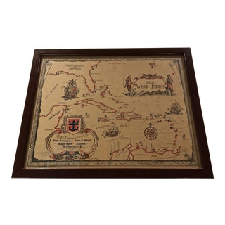Antique-Style West Indies Map