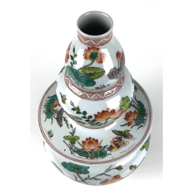 Chinese Antique Large Chinese Porcelain Vase For Sale - Image 3 of 13
