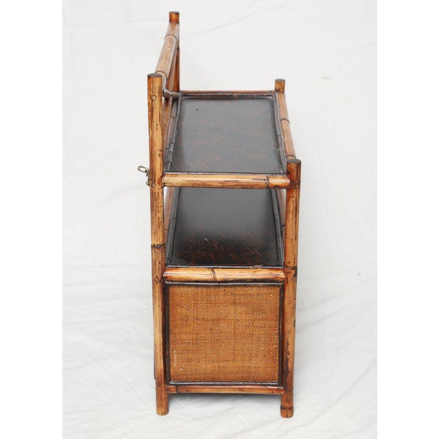 1900s 1900s Asian Bamboo Hanging Cabinet For Sale - Image 5 of 7