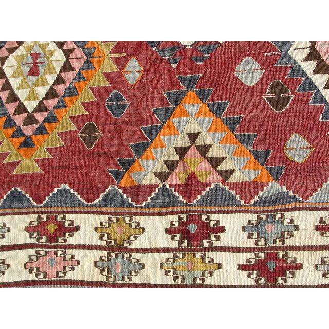 Vintage Turkish Kilim Rug - 5′9″ × 8′2″ For Sale - Image 9 of 11
