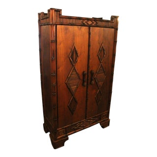 20th Century Chinese Chippendale Armoire For Sale