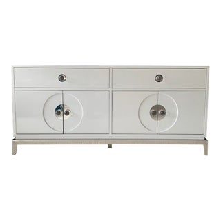 Jonathan Adler White Media Console For Sale