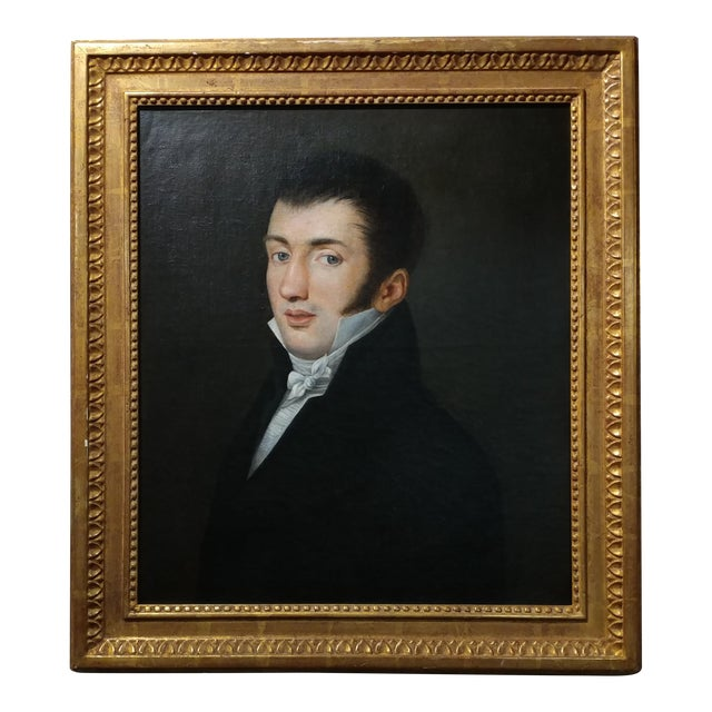 18th Century Portrait Oil Painting - Image 1 of 10