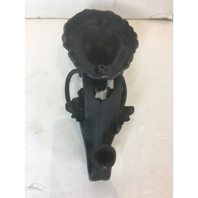 Onyx Vintage Solid Iron Lion Door Knocker For Sale - Image 8 of 13