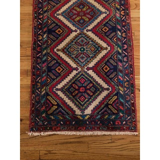 Vintage Mid-Century Hand-Knotted Runner Rug - 2′6″ × 10′ Preview
