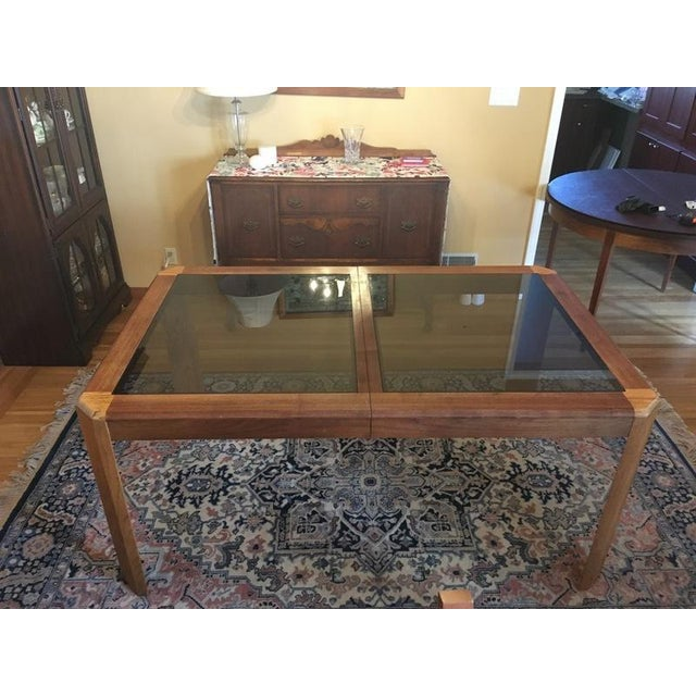 Vintage Oak Glass Top Dining Suite - Image 5 of 11
