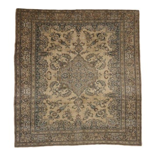 Antique Persian Tabriz Medallion Rug with Traditional Modern Style