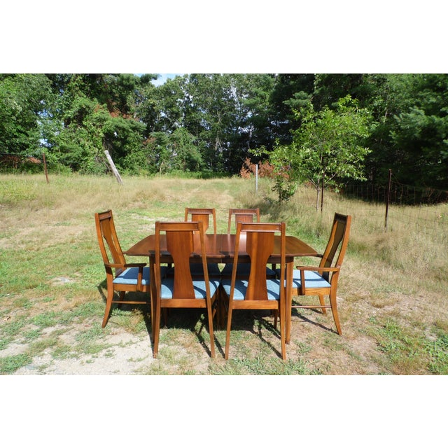 Danish Modern Mid-Century Modern Walnut Dining Set For Sale - Image 3 of 11