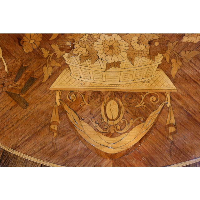 Louis XVI Style Marquetry Table A' Ecrire For Sale - Image 4 of 13