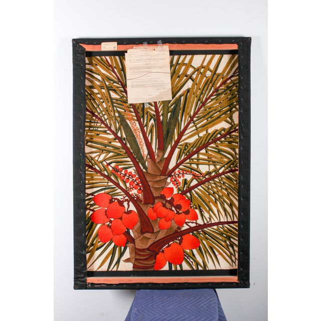 """Vipula Dharmawardena (Sri Lankan) """"King Coconut"""" Batik For Sale In Detroit - Image 6 of 10"""