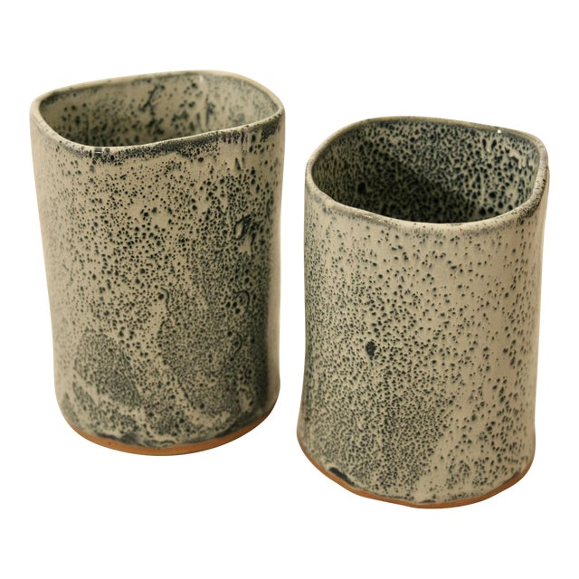 Studio Pottery Vases - A Pair - Image 1 of 11