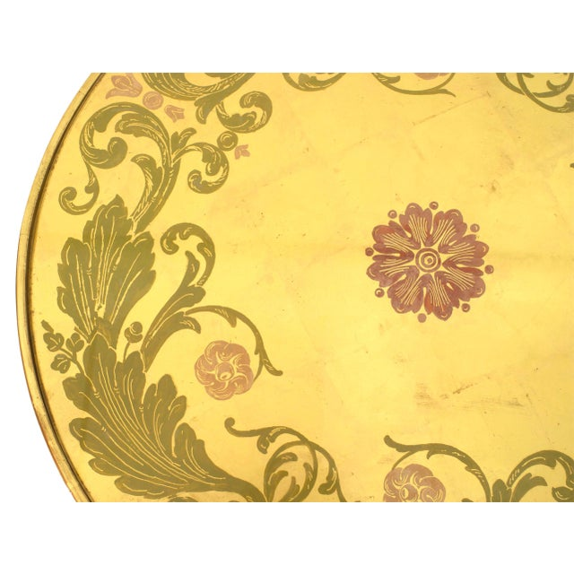 Neoclassical Revival French Neoclassic Giltwood and Églomisé Coffee Table For Sale - Image 3 of 4