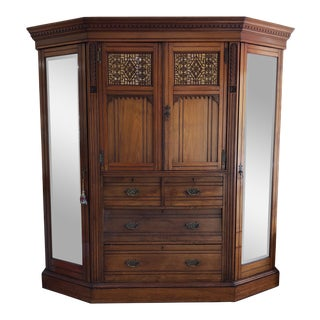 1900's Walnut Full Armoire