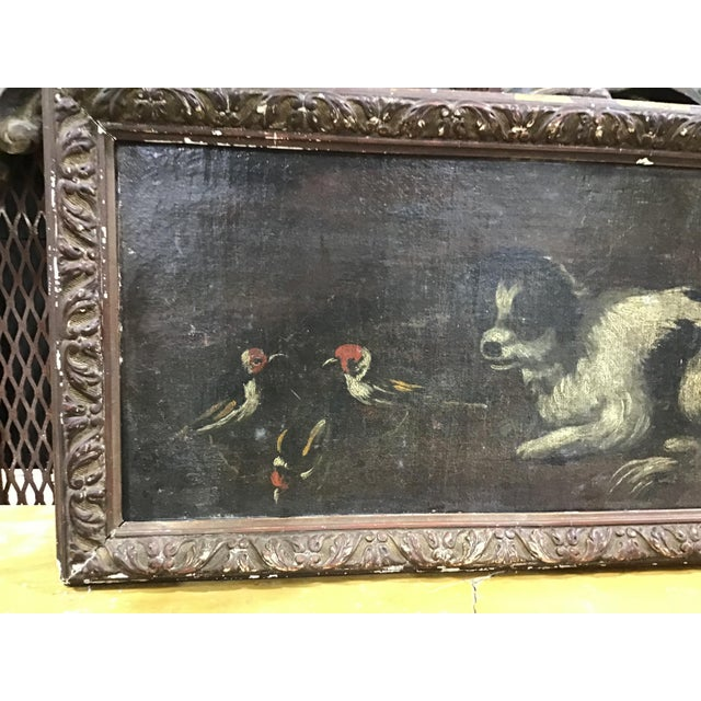Early 18th Century 18th Century Italian Dog Painting For Sale - Image 5 of 11