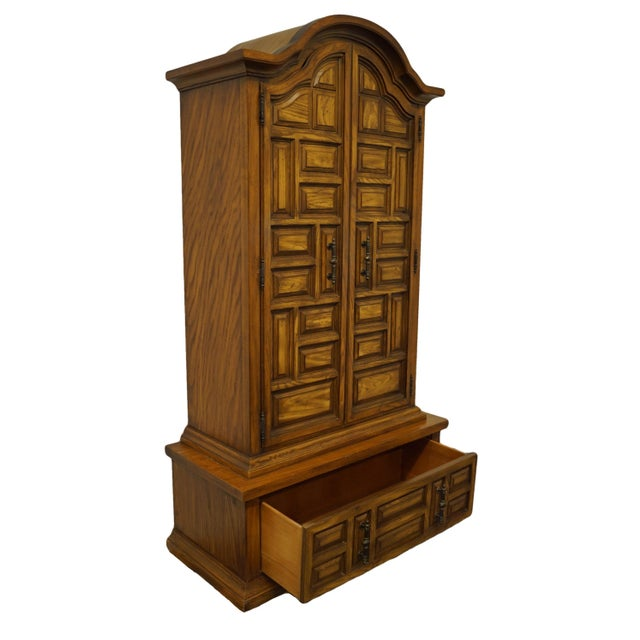 Vintage Basic Witz Spanish Style Walnut Armoire Chest For Sale In Kansas City - Image 6 of 12