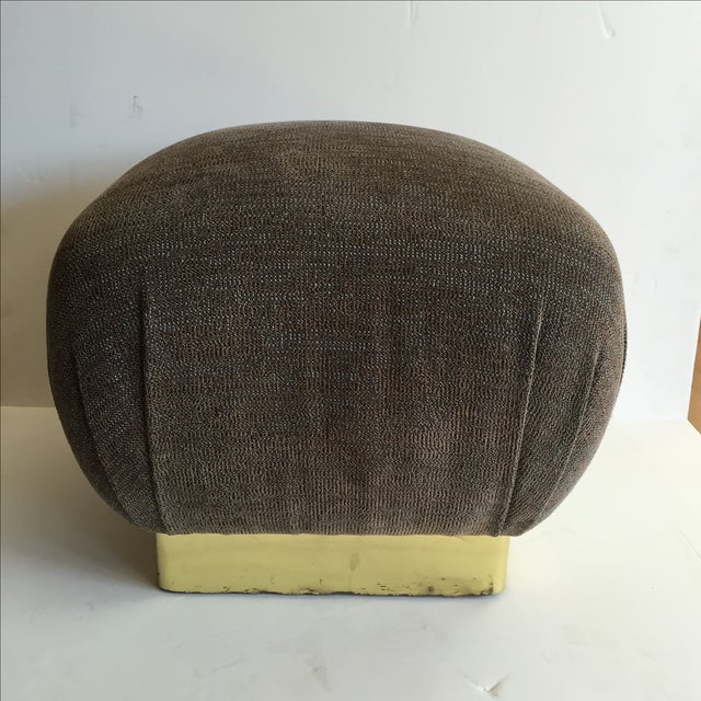 1970 Marge Carson Pouf with New Fabric - Image 5 of 8