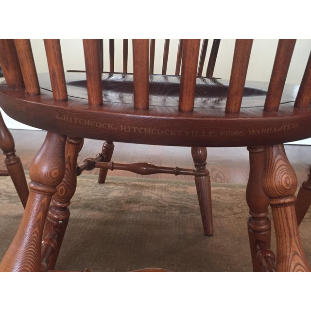 1980s L. Hitchcock Classic Briarcliffe Extension Dining Set For Sale - Image 5 of 11
