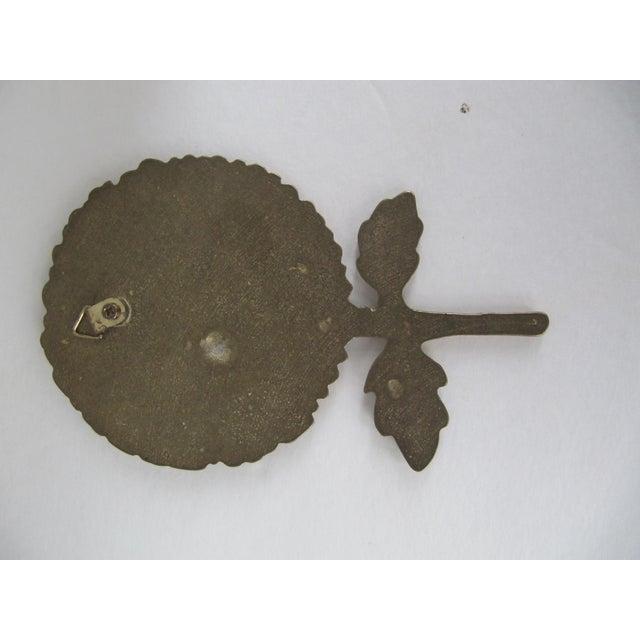Vintage Brass Sunflower Decorative Object - Image 3 of 5