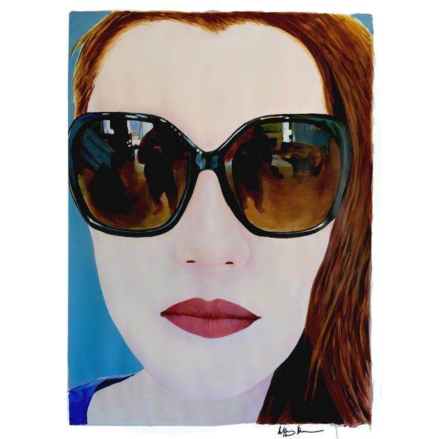 """""""Portrait of Claire"""" Painting by Geoff Greene For Sale"""
