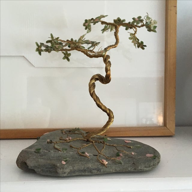 Vintage Hand Wired Tree on Stone - Image 5 of 6