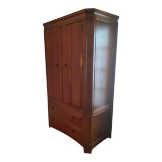 1980s Arts and Crafts Thomasville Media Armoire For Sale