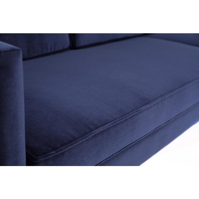 1970s 1970s Vintage Martin Brattrud Navy Mohair Sofa For Sale - Image 5 of 6