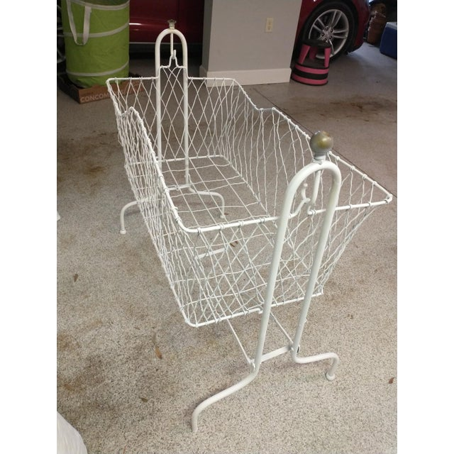 1900 - 1909 Antique Wire Baby Bassinet For Sale - Image 5 of 5
