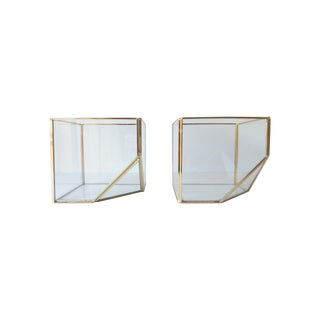 Square Glass Terrarium - A Pair