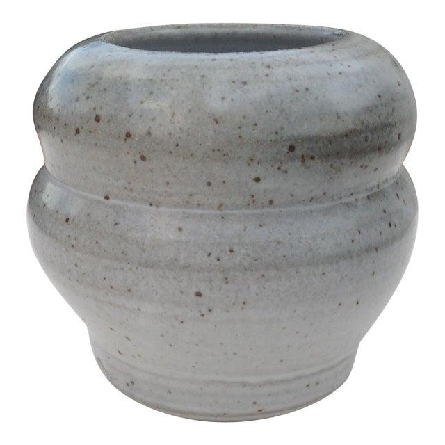 Boho Chic Gray Vase For Sale