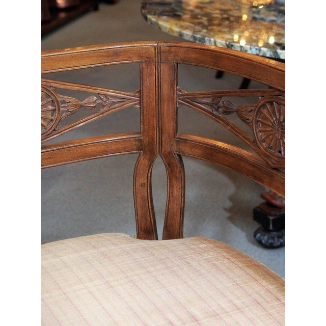 Antique French Fruitwood Settee, Directoire Style For Sale - Image 4 of 6