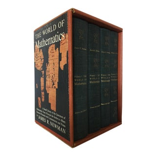 """The World of Mathematics"" 4 Volume Set, 1956 First Edition"