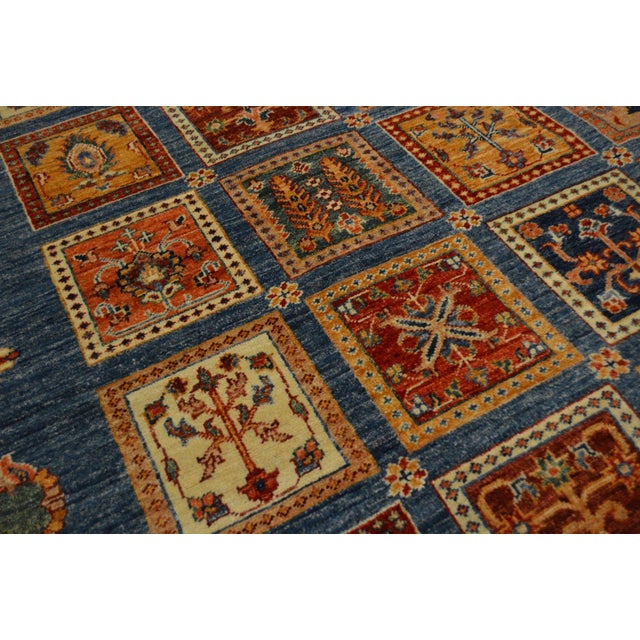 Hand Knotted Persian Bakhtiari Wool Rug - 8′5″ × 9′9″ For Sale - Image 4 of 8