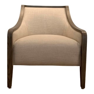 Modern Upholstered Lounge Chair For Sale