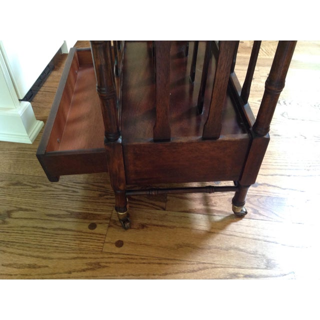 Canterbury Mahogany Magazine Rack For Sale In New York - Image 6 of 6