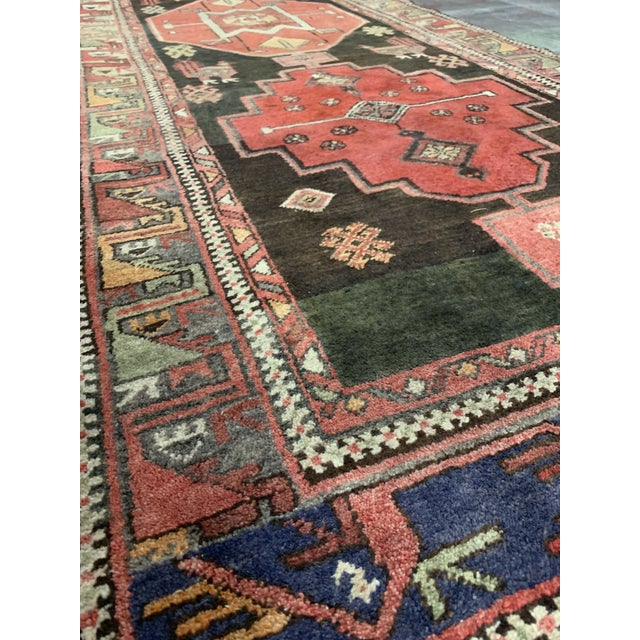 1950s Vintage Persian Runner Rug - 3′4″ × 9′ For Sale - Image 4 of 13