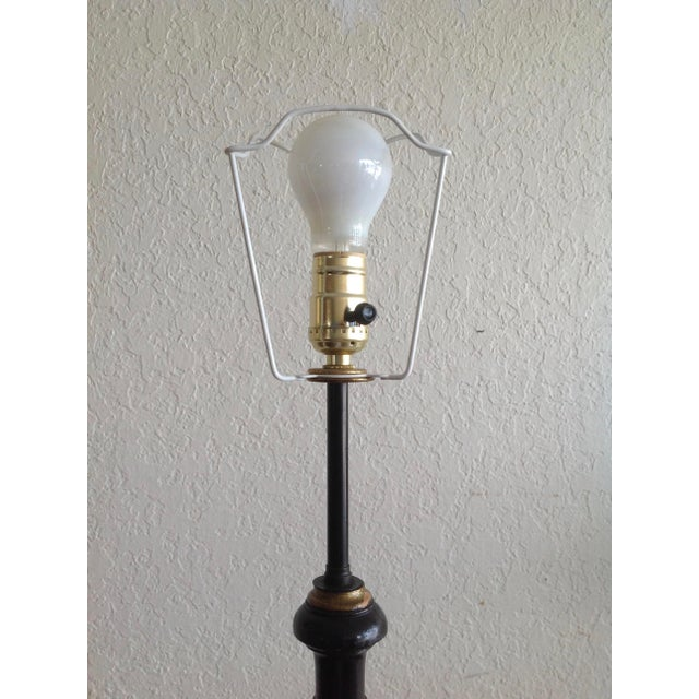 Chinoiserie Floor Lamp With Custom Shade For Sale - Image 11 of 13