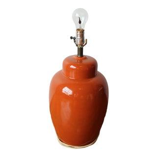 Vintage Orange Lamp Base For Sale