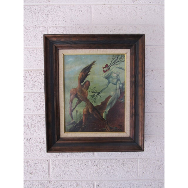 Rare Abstract by Harold A. Laynor 1939 Acrylic on Masonite. For Sale In Phoenix - Image 6 of 8