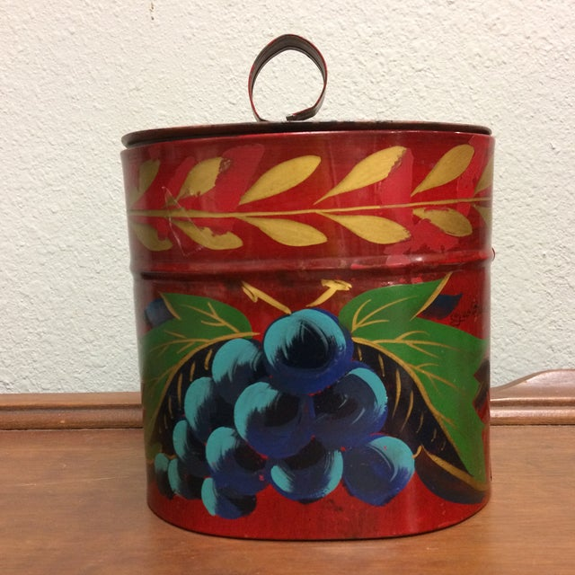 Antique Hand Painted Toleware Tea Caddy For Sale - Image 12 of 13