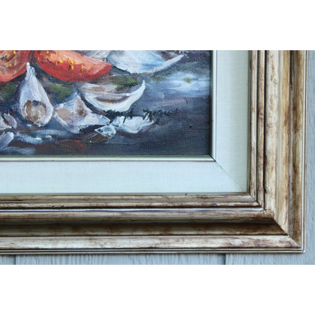 Late 20th Century Artichoke Vegetable Still Life Original Oil Painting For Sale - Image 5 of 11