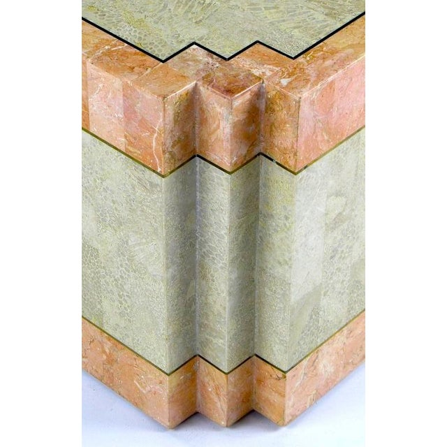 Casa Bique Tessellated Fossil Stone & Marble Coffee Table For Sale In Chicago - Image 6 of 6