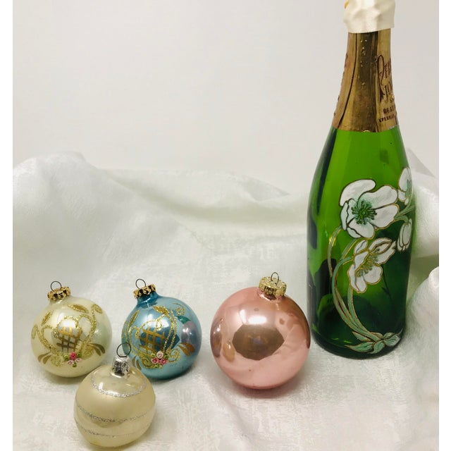 Hollywood Regency Vintage Italian & Polish Christmas Holiday Glass Ornaments - Collection of 24 For Sale - Image 3 of 12