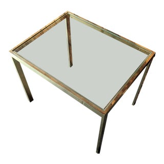 Milo Baughman Vintage Brass Side Table, Design Institute of America