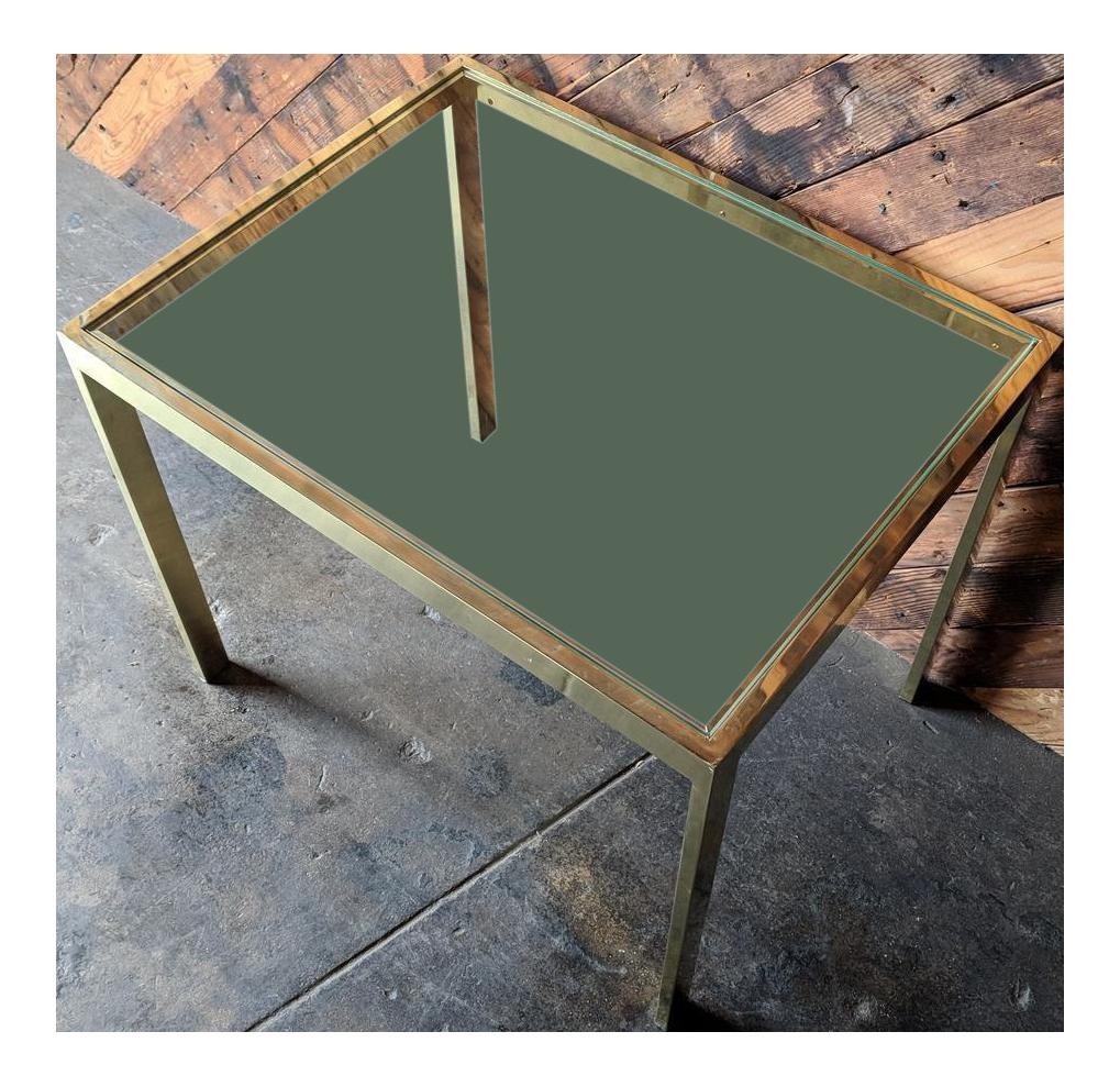 Milo Baughman Vintage Brass Side Table, Design Institute Of America