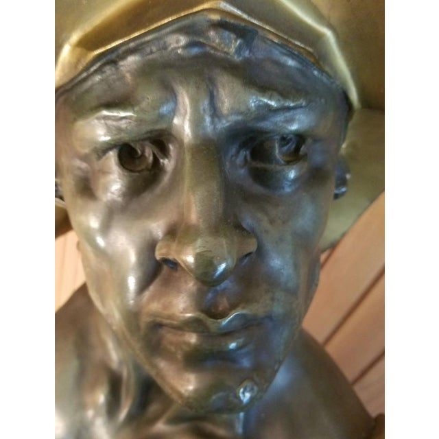 Gold 1900s Neoclassical Bust of a Gladiator For Sale - Image 8 of 11