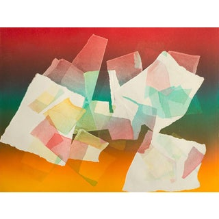 Colorful 'Flying Papers' Monoprint