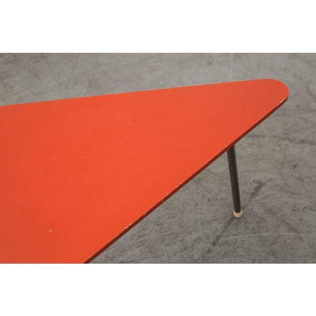 Retro Red Triangle Side Table - Image 9 of 11