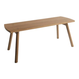Sol Bench by Sun at Six, Sienna Minimalist Bench in Oak Wood For Sale